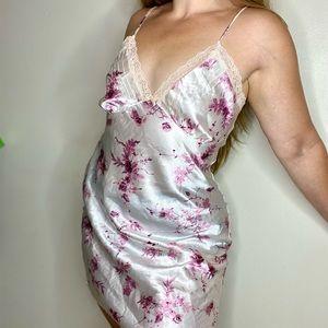 VINTAGE California Dynasty Lace Cami Slip Dress S